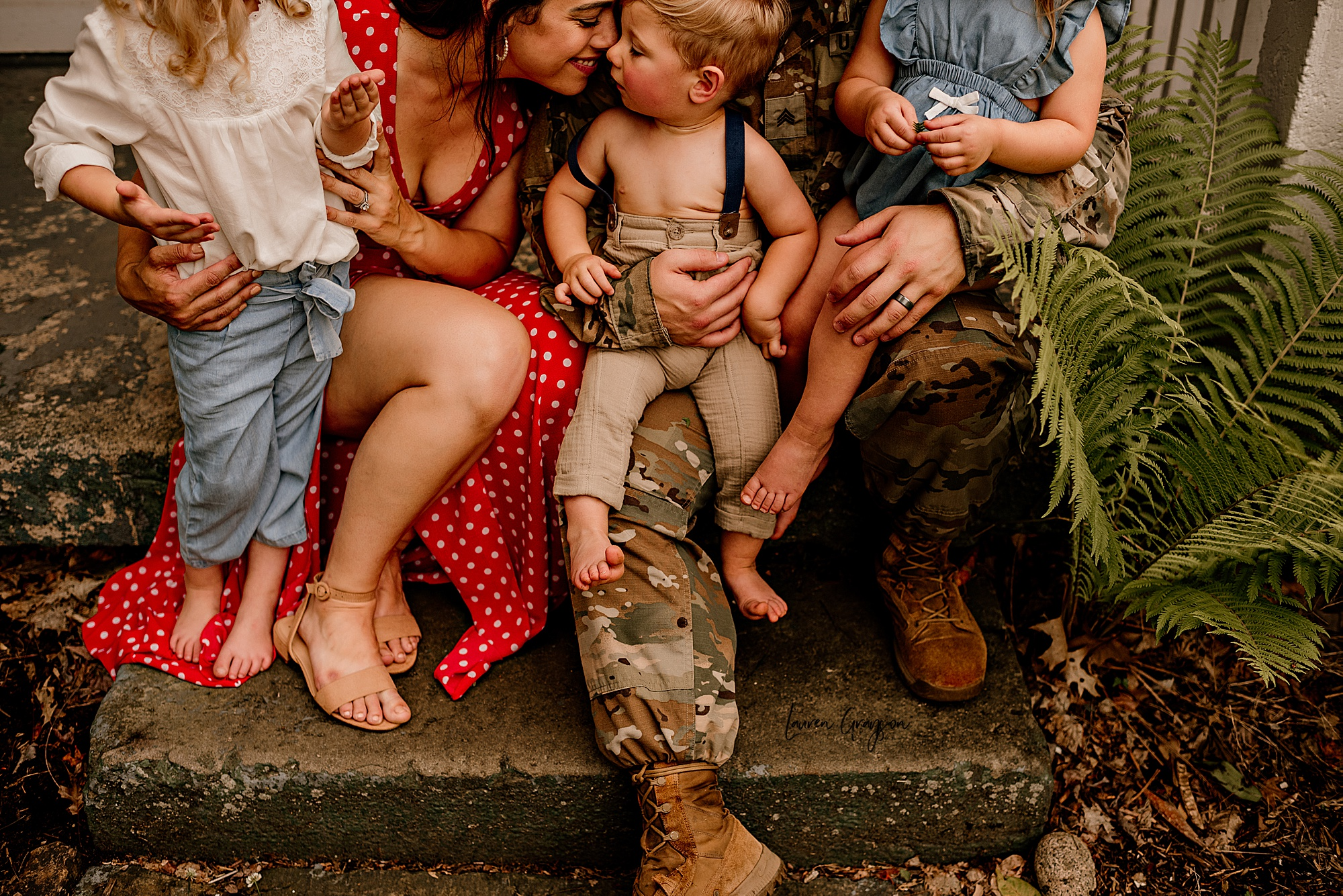 photographer canton Ohio military family photo session outdoors in the summer fields Lauren Grayson photography