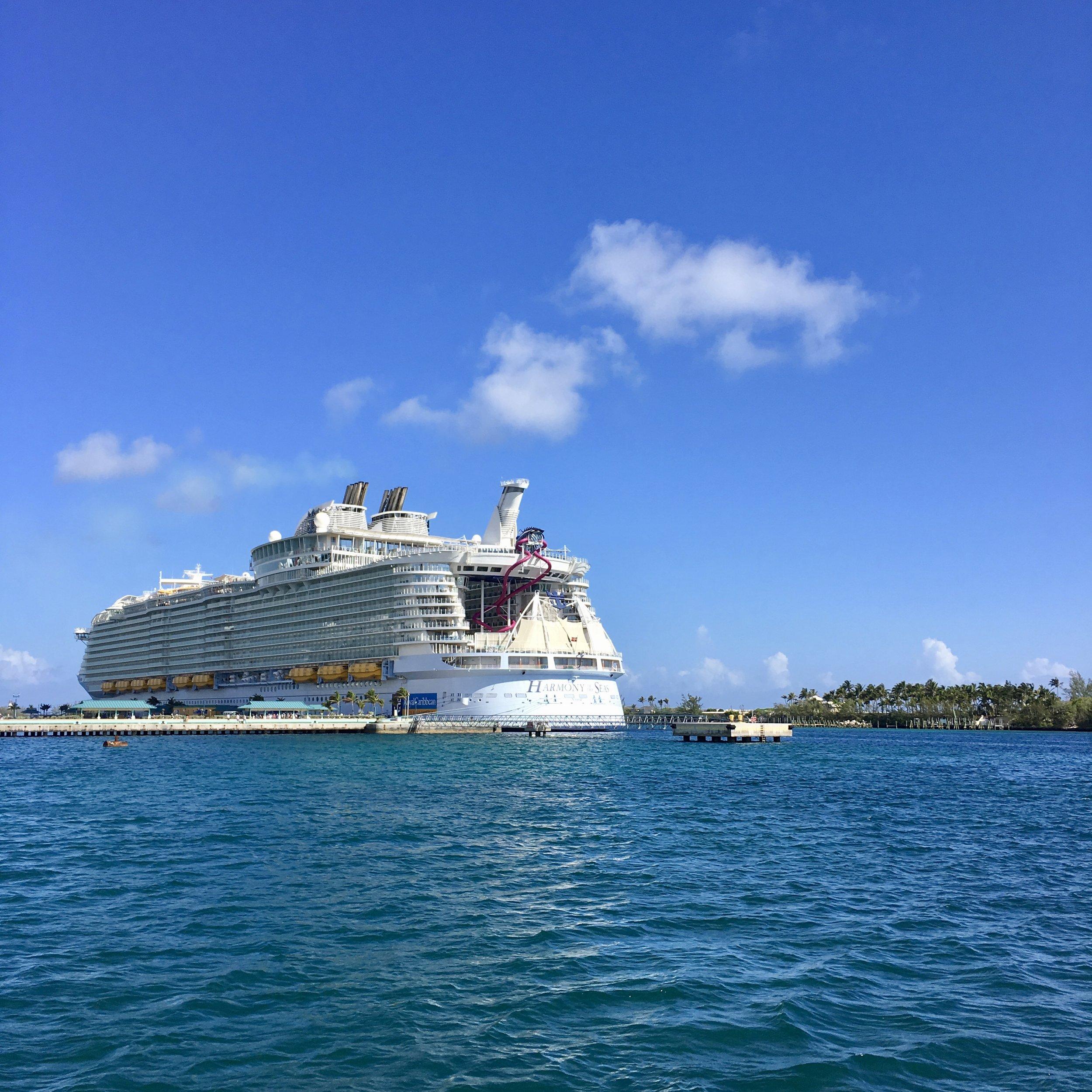 Harmony of the Seas ( Docked at  St Martin Island,Caribbean Sea )