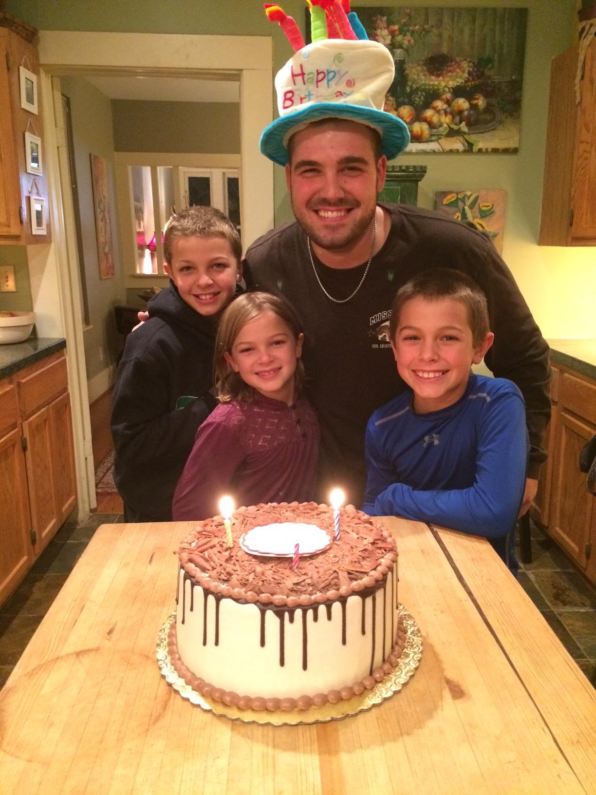 celebrating my nephew's birthday
