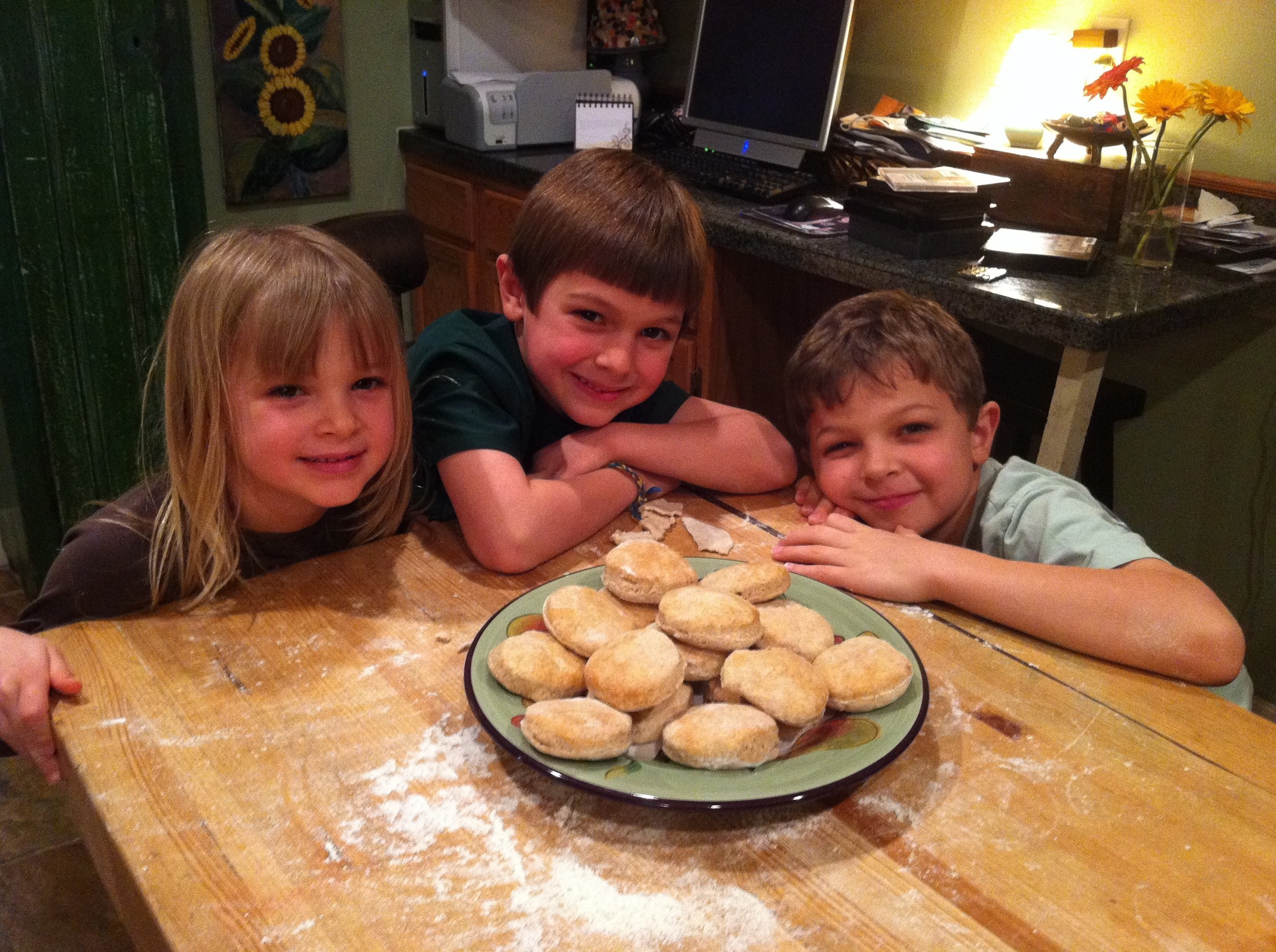 my kids displaying their baking skills