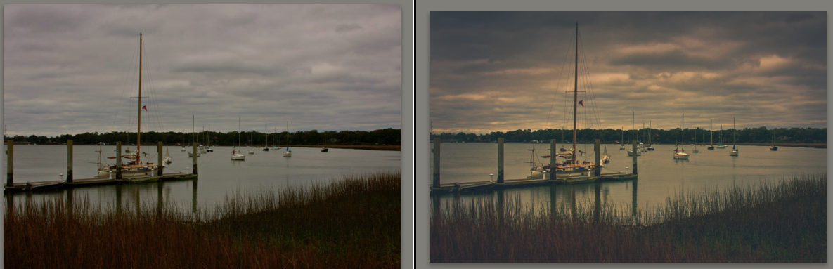 Boats by the Bay Before and After