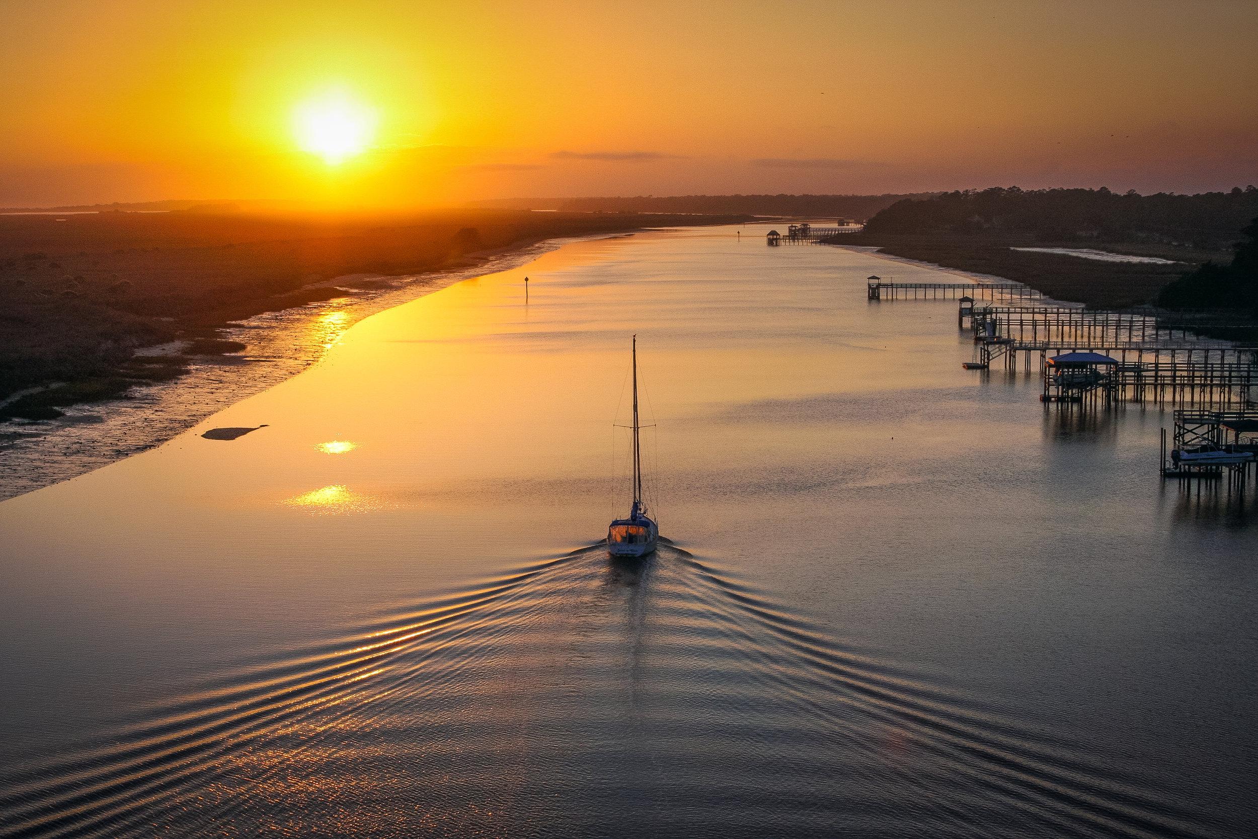 Sunset Sail Away