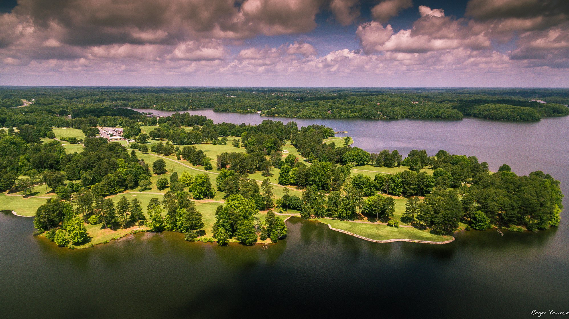 Aerial View of the Oak Hollow Golf Course
