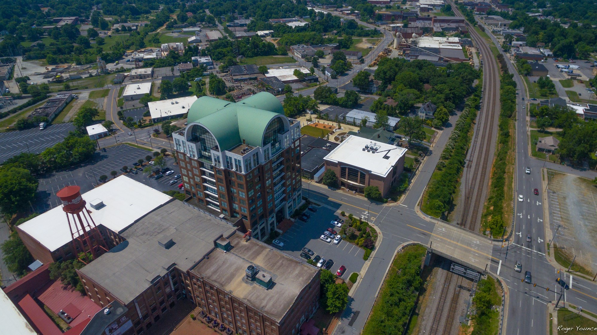 Aerial View of Downtown High Point in North Carolina