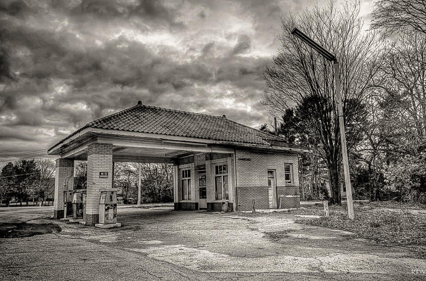 The Old Gas Station in Jamestown North Carolina
