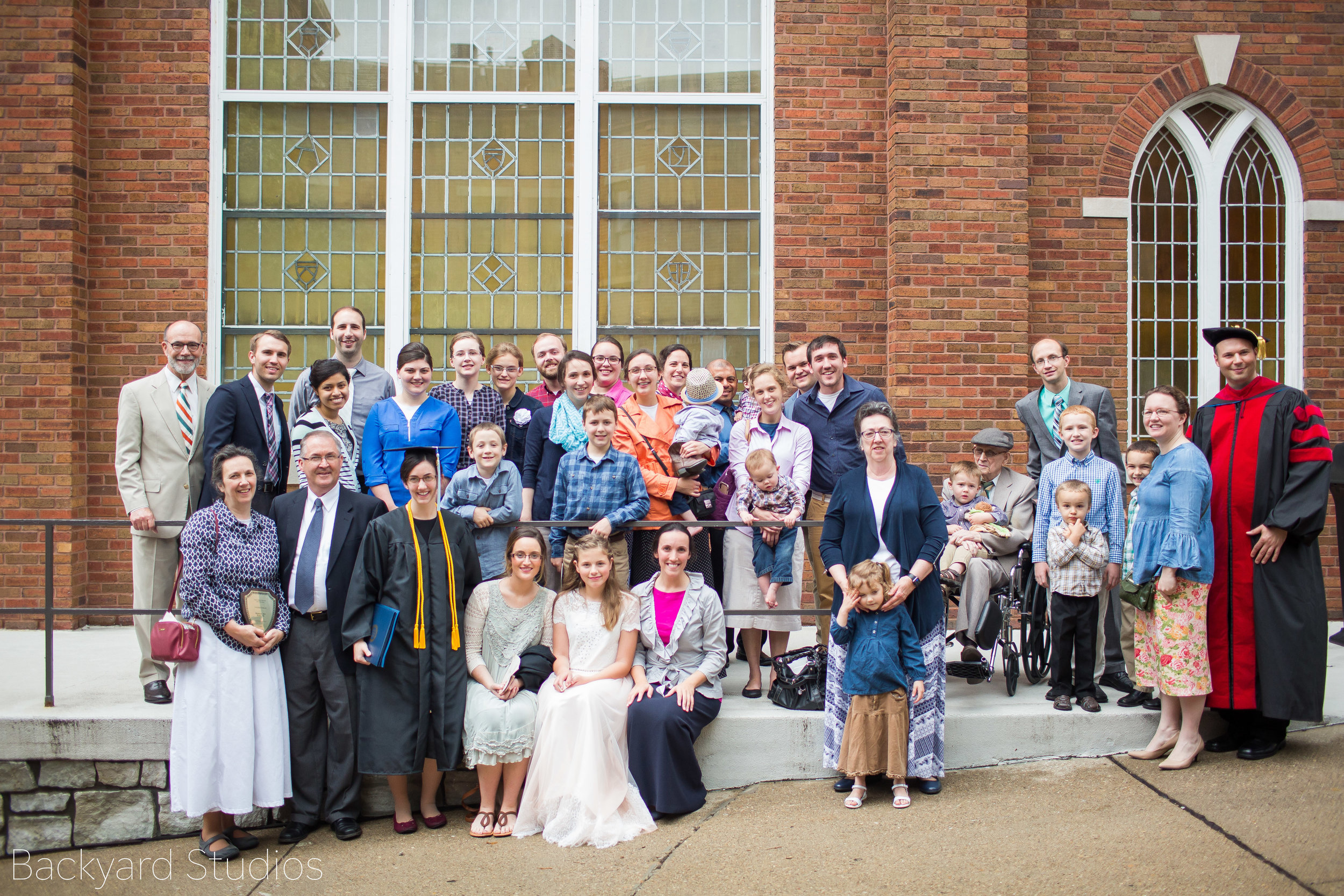 With most of my friends and family that came to the ceremony
