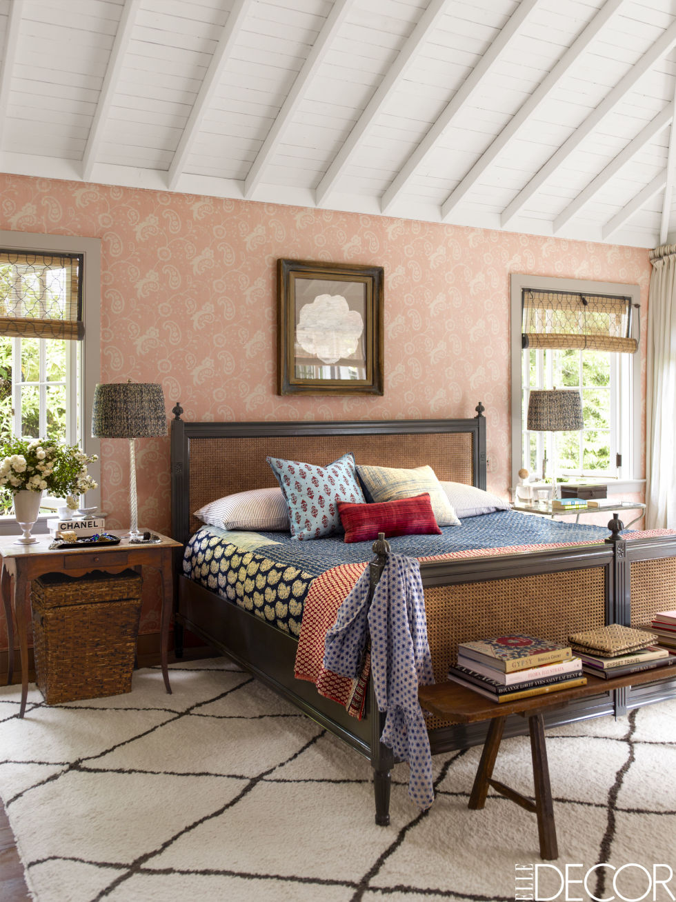 Why wallpaper when you can upholster your bedroom walls with  Raoul textiles ?