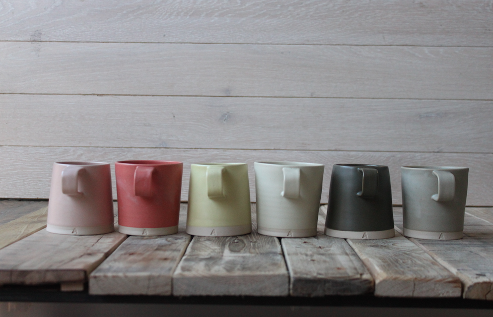 Arran Street East mugs , €33 each  I'm utterly obsessed with everything these guys create. Modern-day Irish classics.