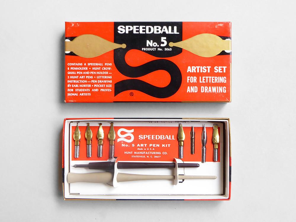 Speedball calligraphy set (from the 1960s),  £32
