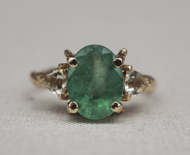 Chupi 'One in a Trillion' solid gold ring with emerald and prasiolite,  €2,479.  For your 'forever' person. <3