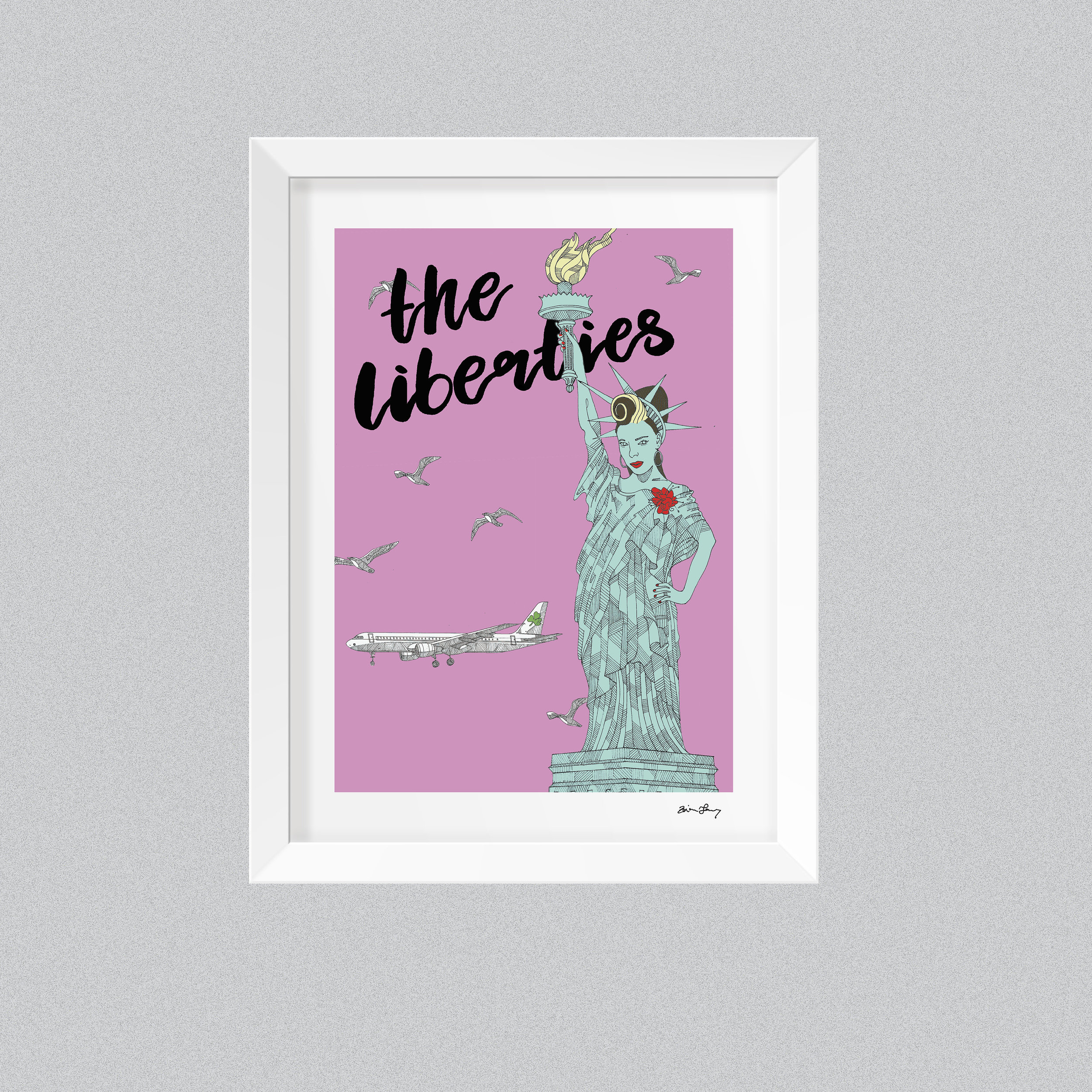 Brian Lowry 'The Liberties' framed print,  €25  Brian's humorous illustrations are inspired by the way a child imagines Dublin. Check out this piece  Lovin' Dublin  did on him last year.
