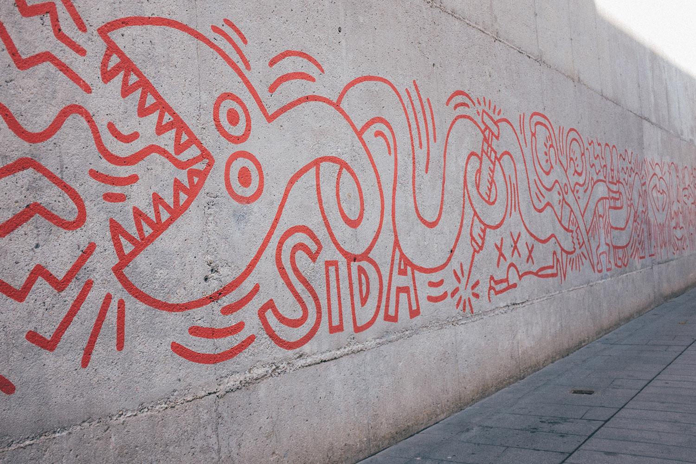 keith haring barcelona street art
