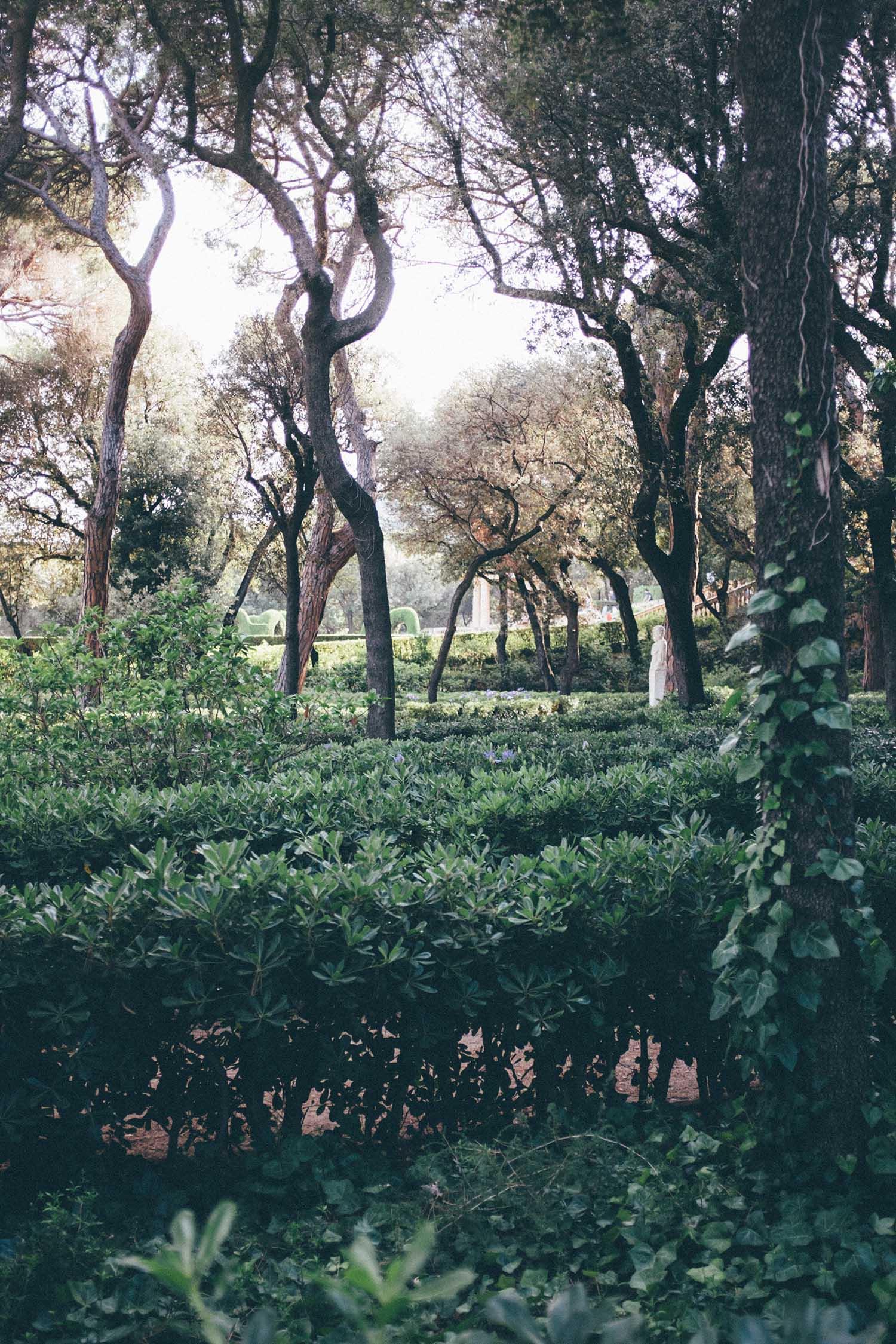 parc de labyrinth d'horta barcelona guide blog