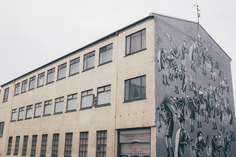 reykjavik street art mural iceland travel