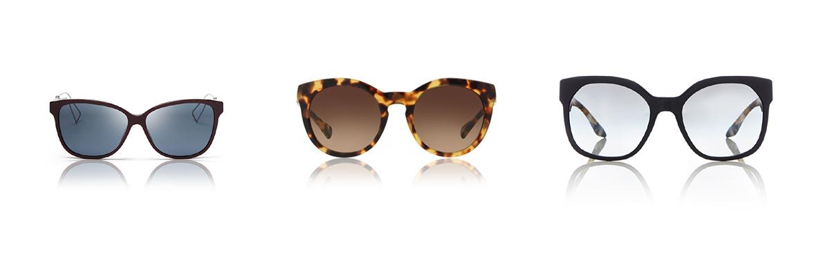 1. Dior Confident | 272,00€        2. Dolce & Gabbana 4279 | 160,00€      3. Prada 10RS | 240,00€