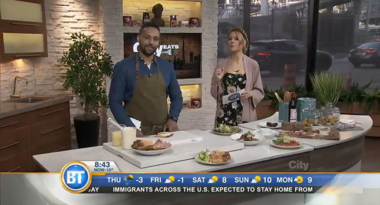 Chef Jean-Regis at Breakfast Toronto.