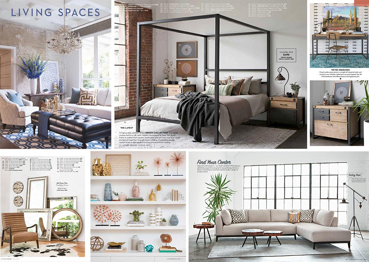 Living spaces catalogs