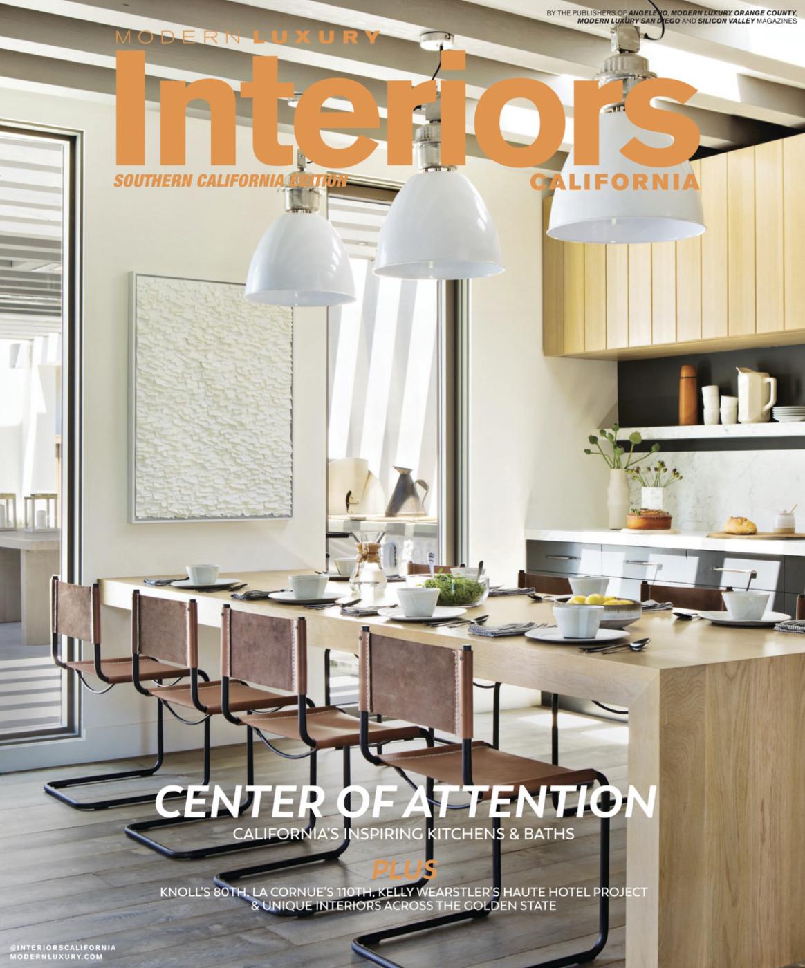 Interiors California COVER