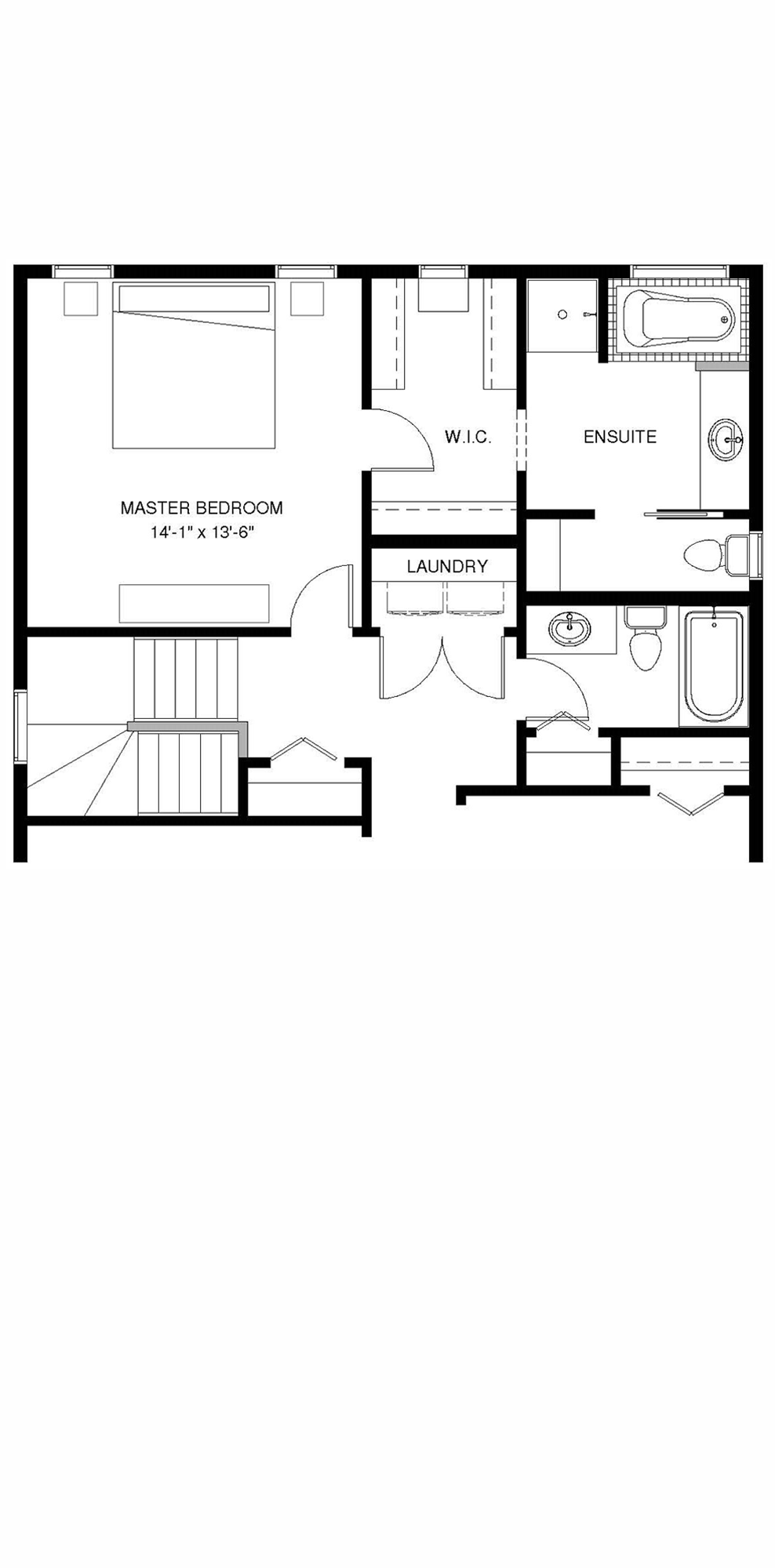 Upper Floor  Optional Ensuite A 1235 sq ft