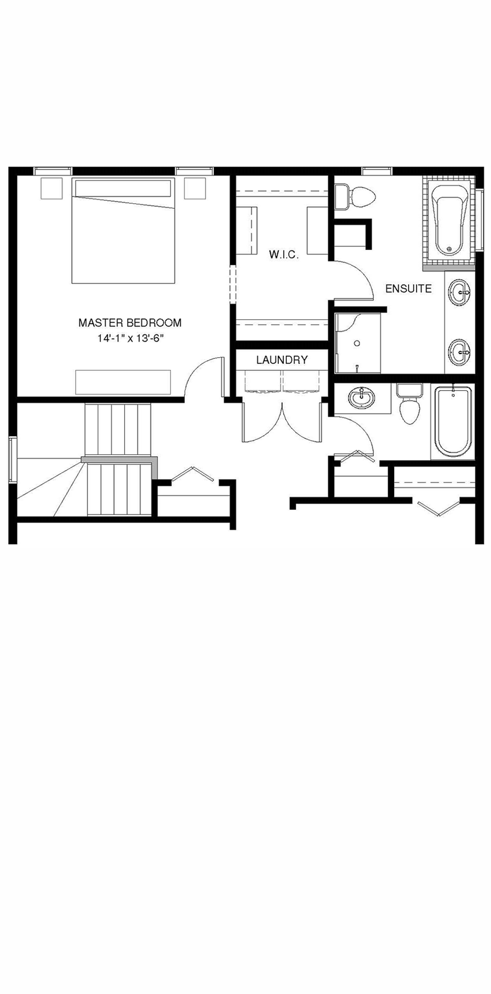 Upper Floor  Optional Ensuite B 1235 sq ft