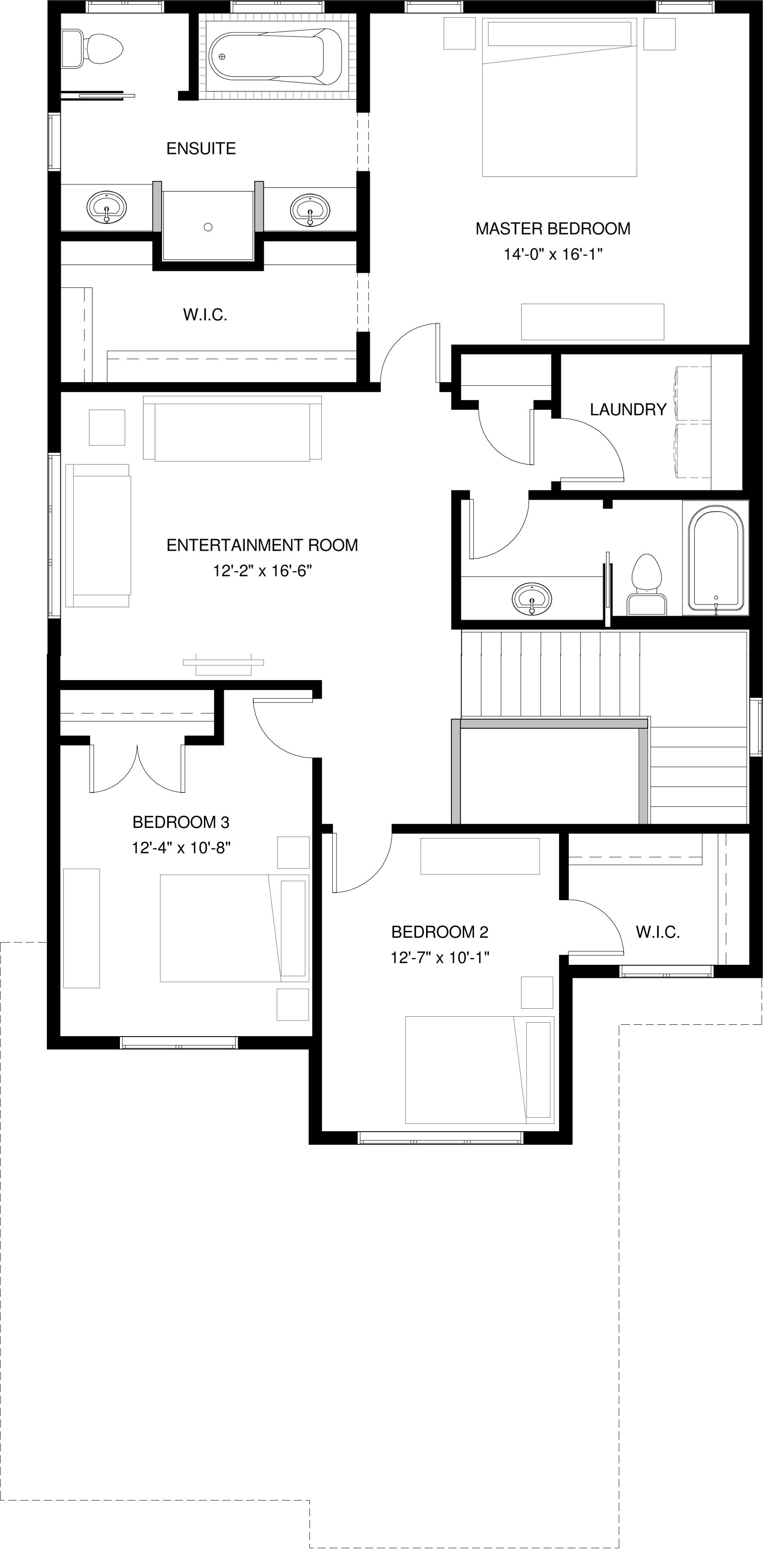 Upper Floor Optional Ensuite  1309 sq ft