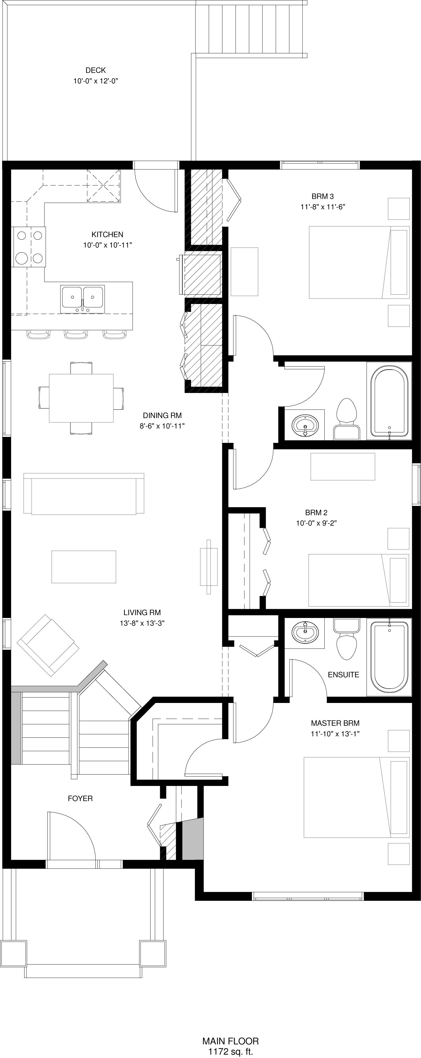 Main Floor  1172 sq ft
