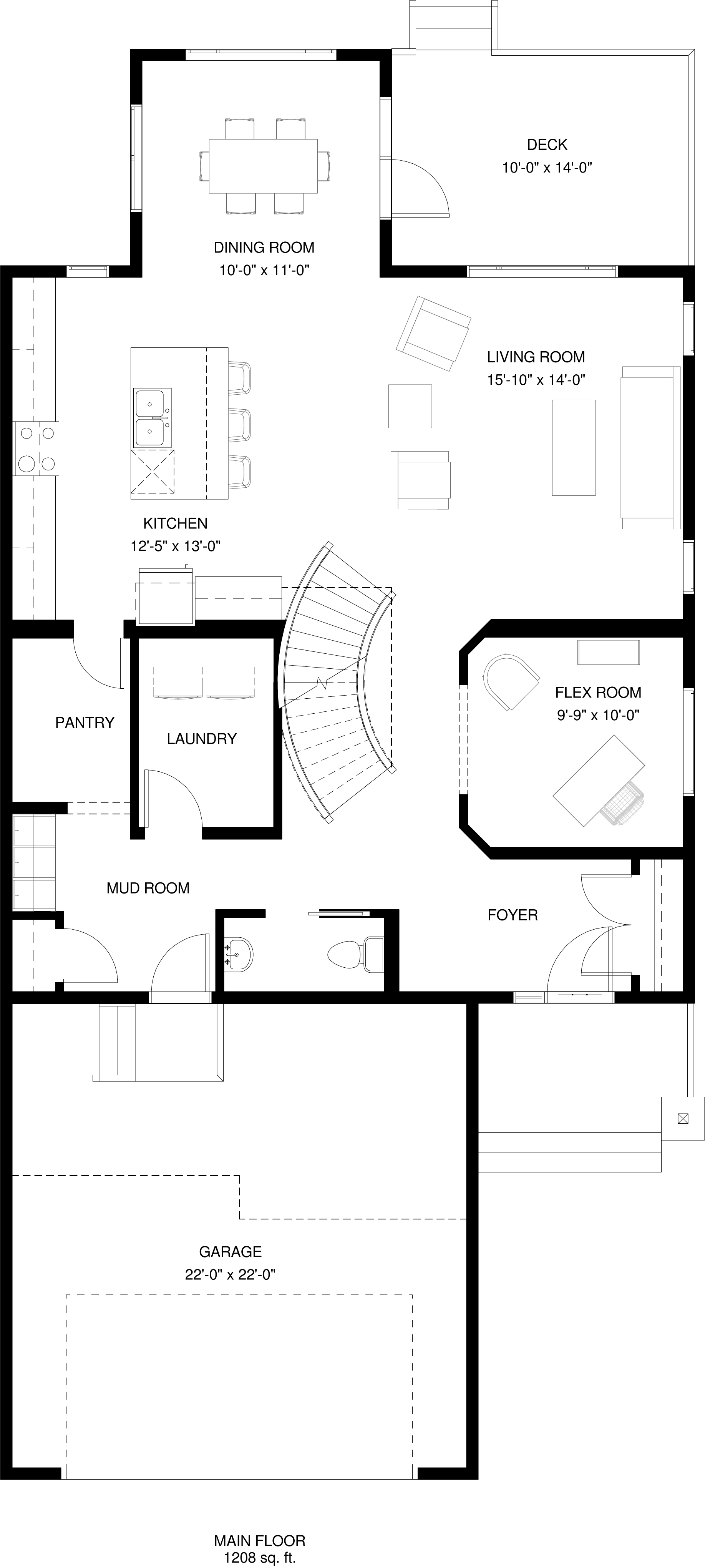 Main Floor   1206 sq ft