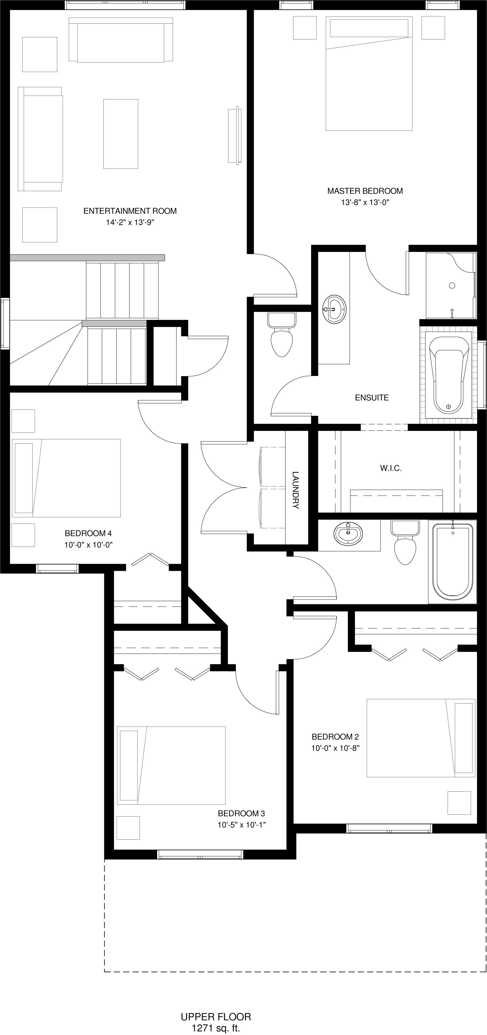 Upper Floor   1271 sq ft