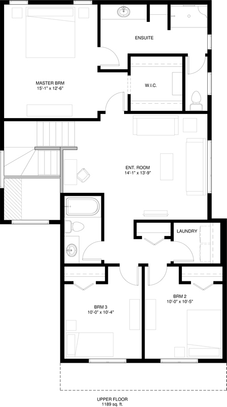 Upper Floor  1189 sq ft