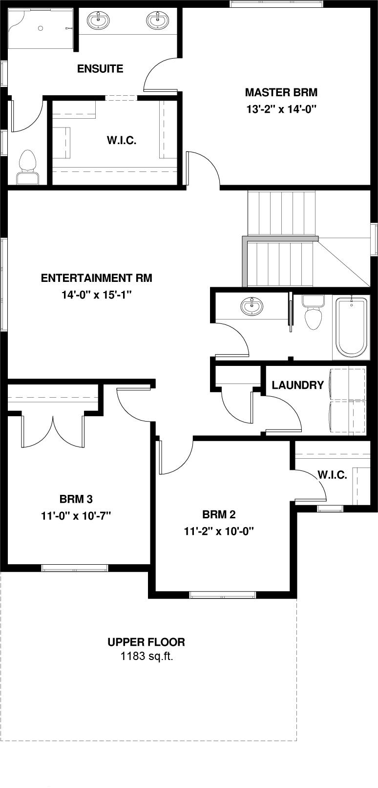 Upper Floor  1183 sq ft