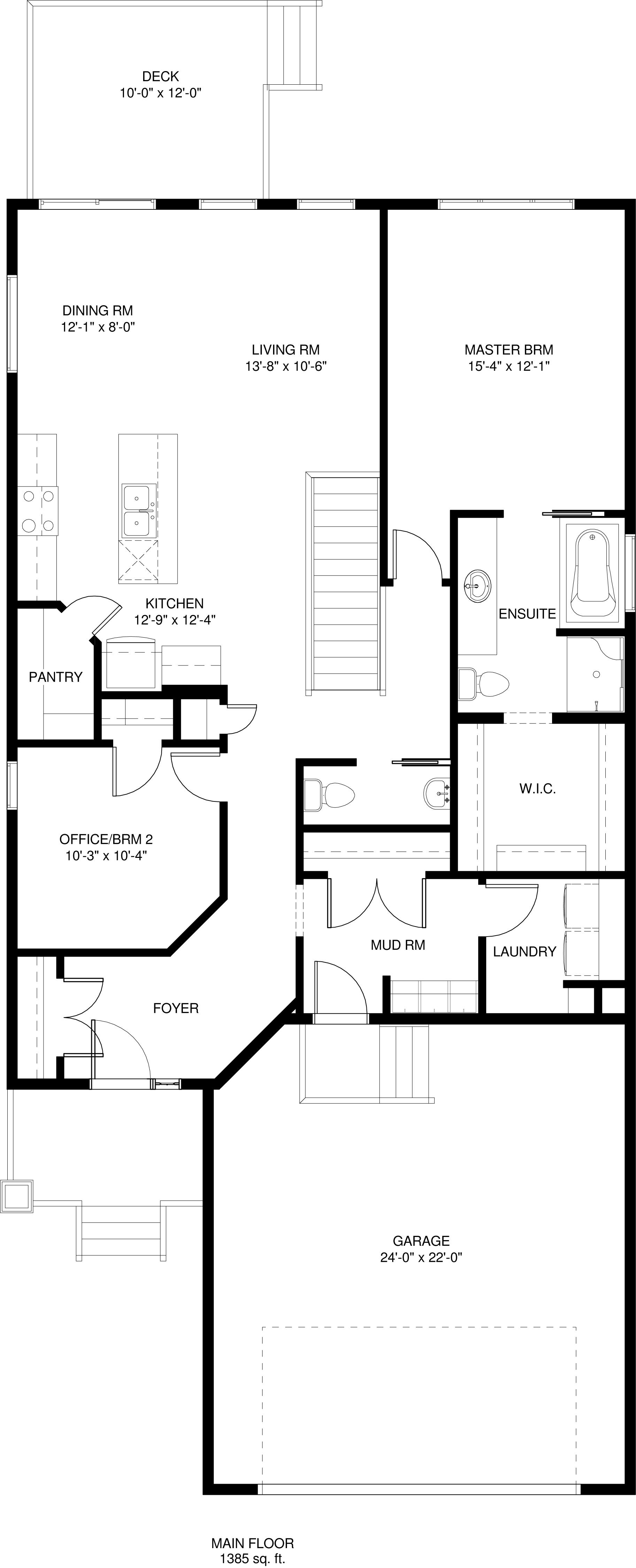 Main floor   1385 sq ft