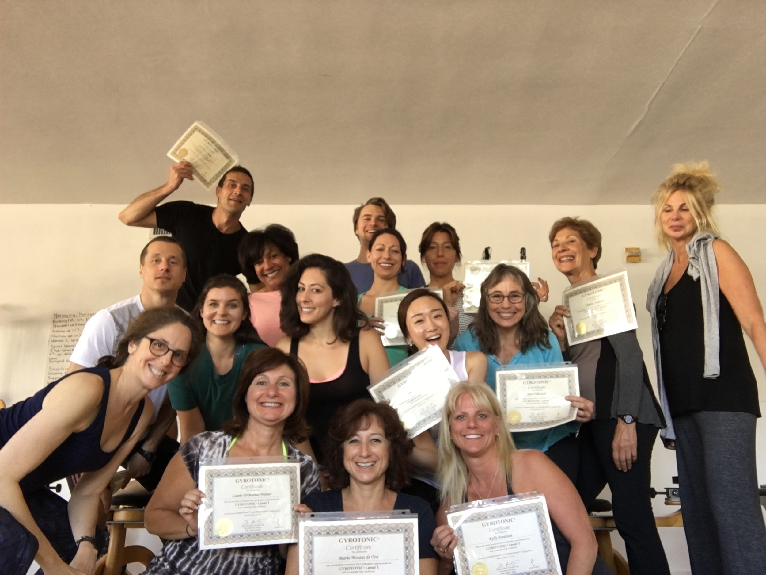Very excited group of newly certified GYROTONIC® trainers