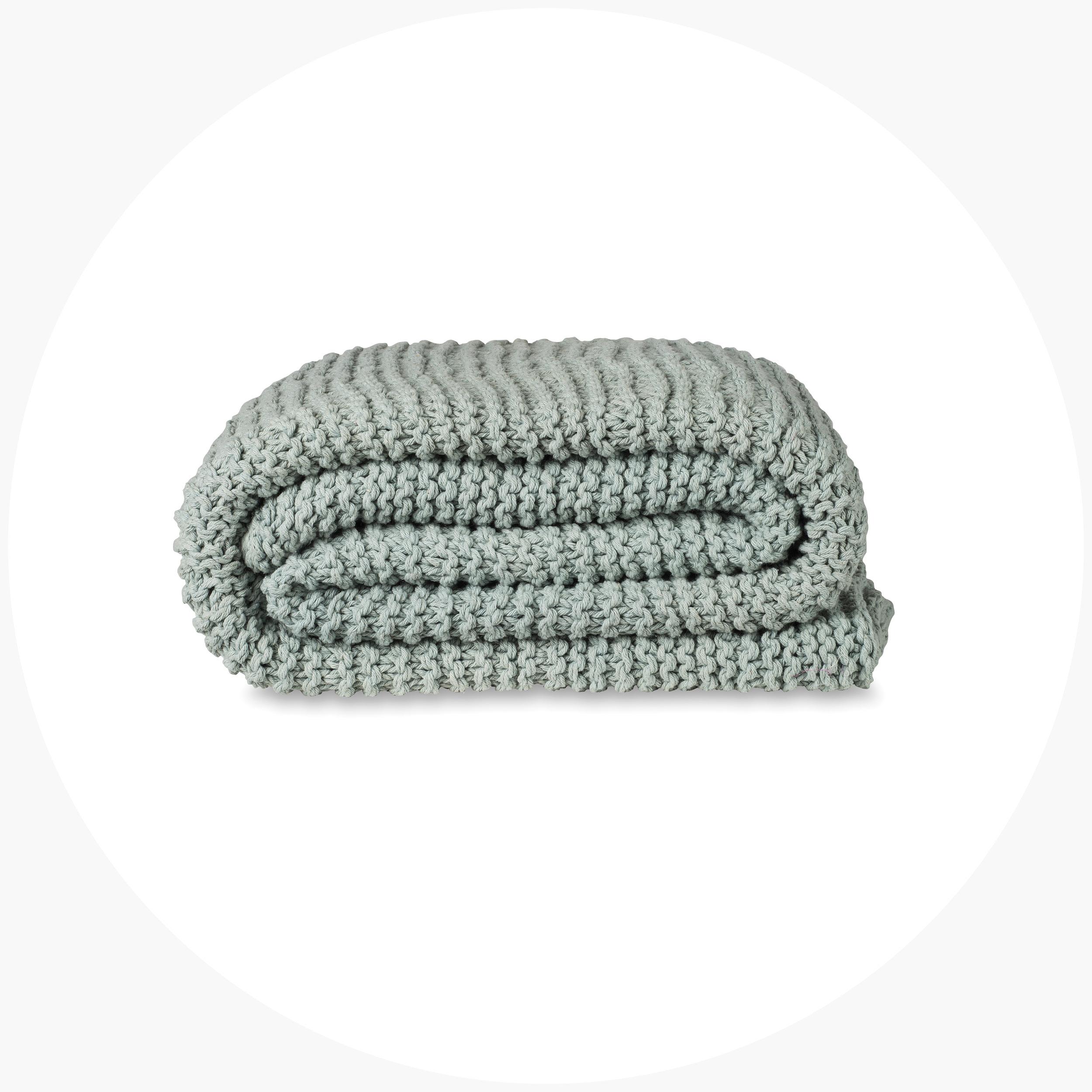 Purl Stitch Cotton Throw  $139.00