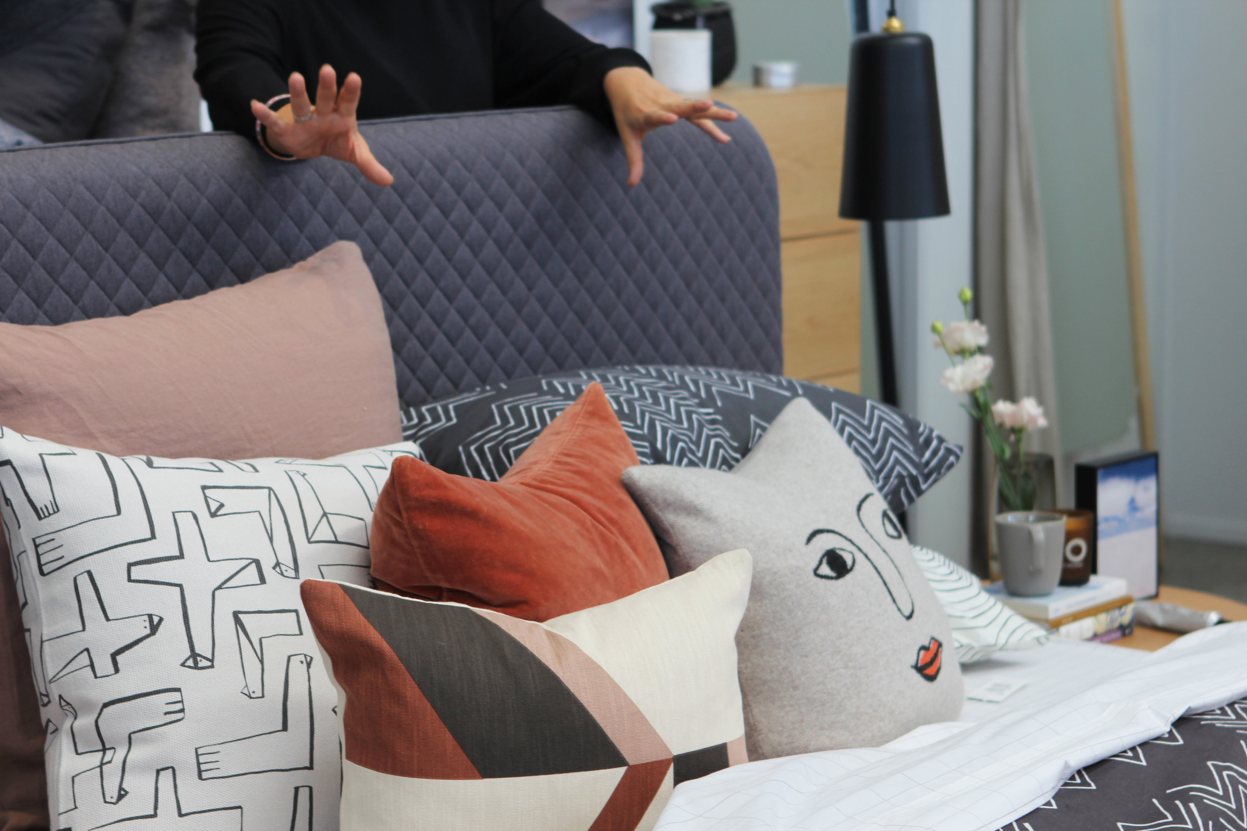 Bolivian inspired bed linen at Citta Style Your Space Workshop with Homestyle magazine
