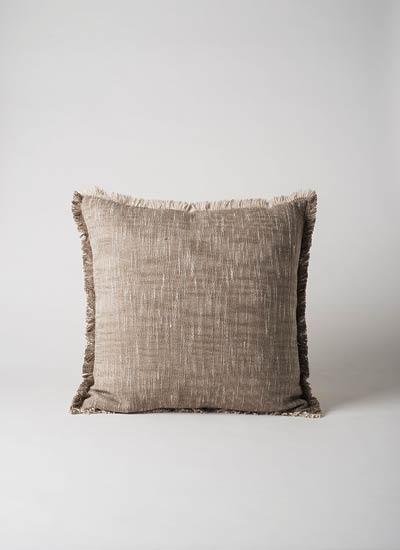 Suave Fringed Cushion  Scoria  | $79.90
