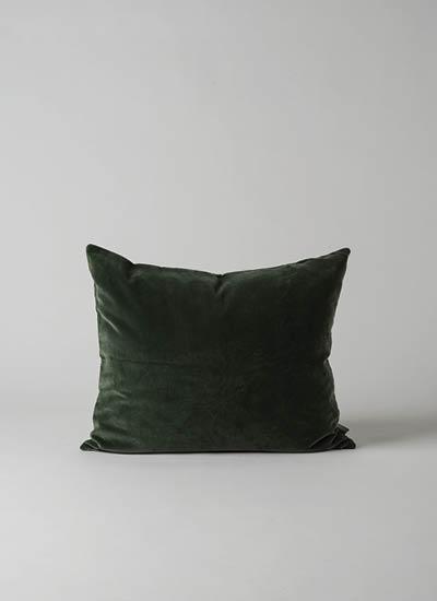 Cotton Velvet Cushion  Forest  | $44.90
