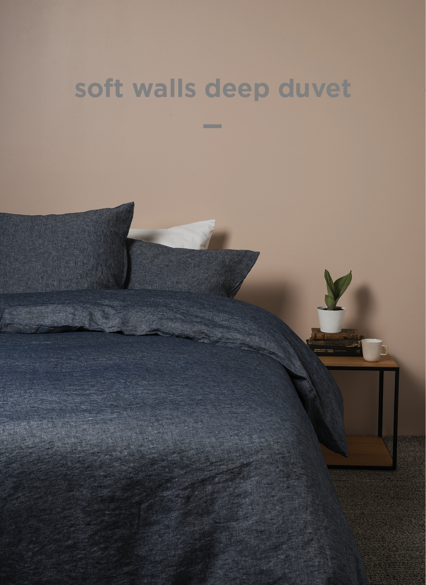 Sove Chambray Duvet Cover  Navy  | From $319