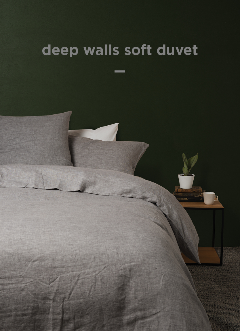 Sove Chambray Linen Duvet Cover  Ash  | From $319