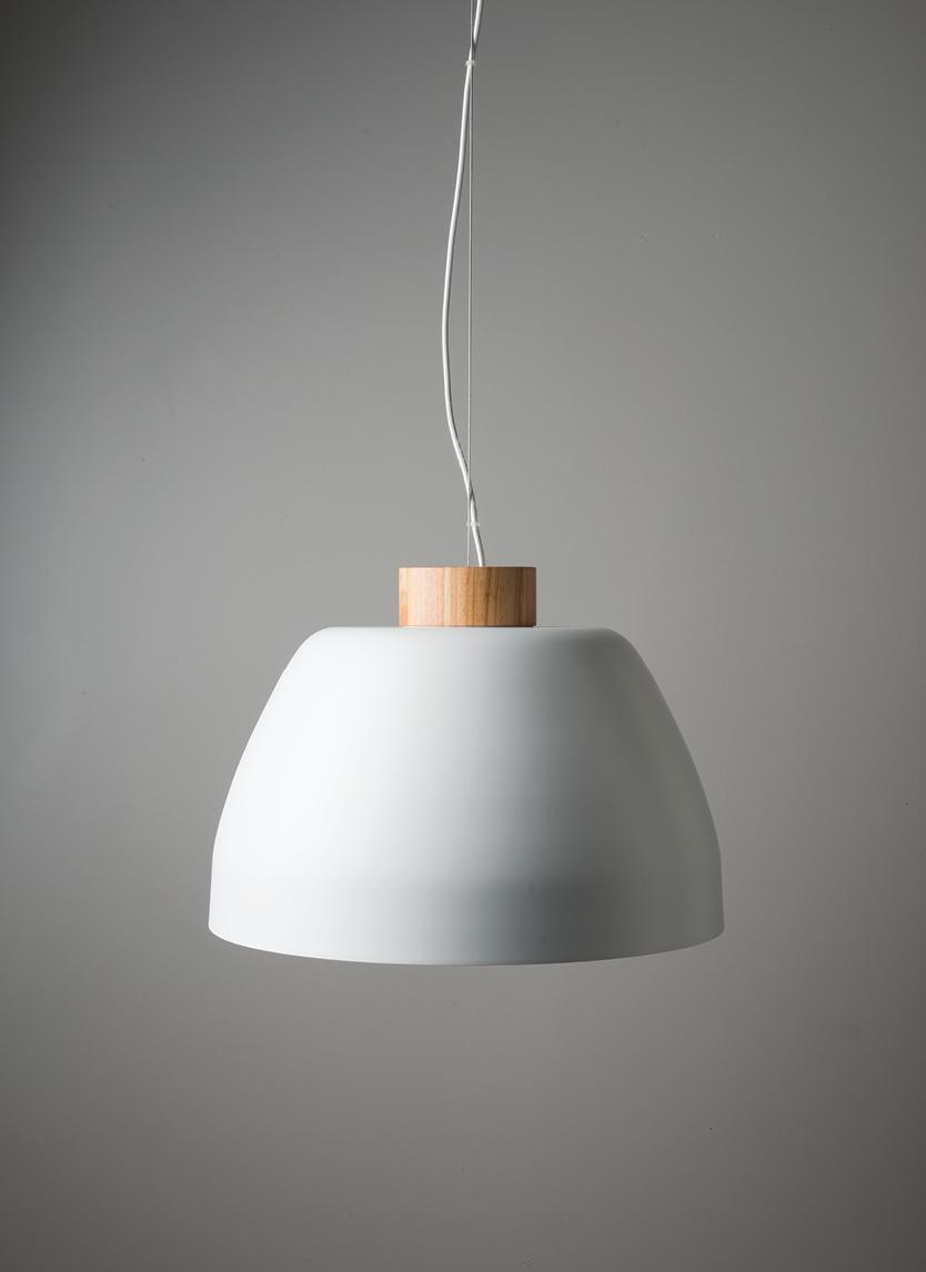 White Ombra Pendant Light $799