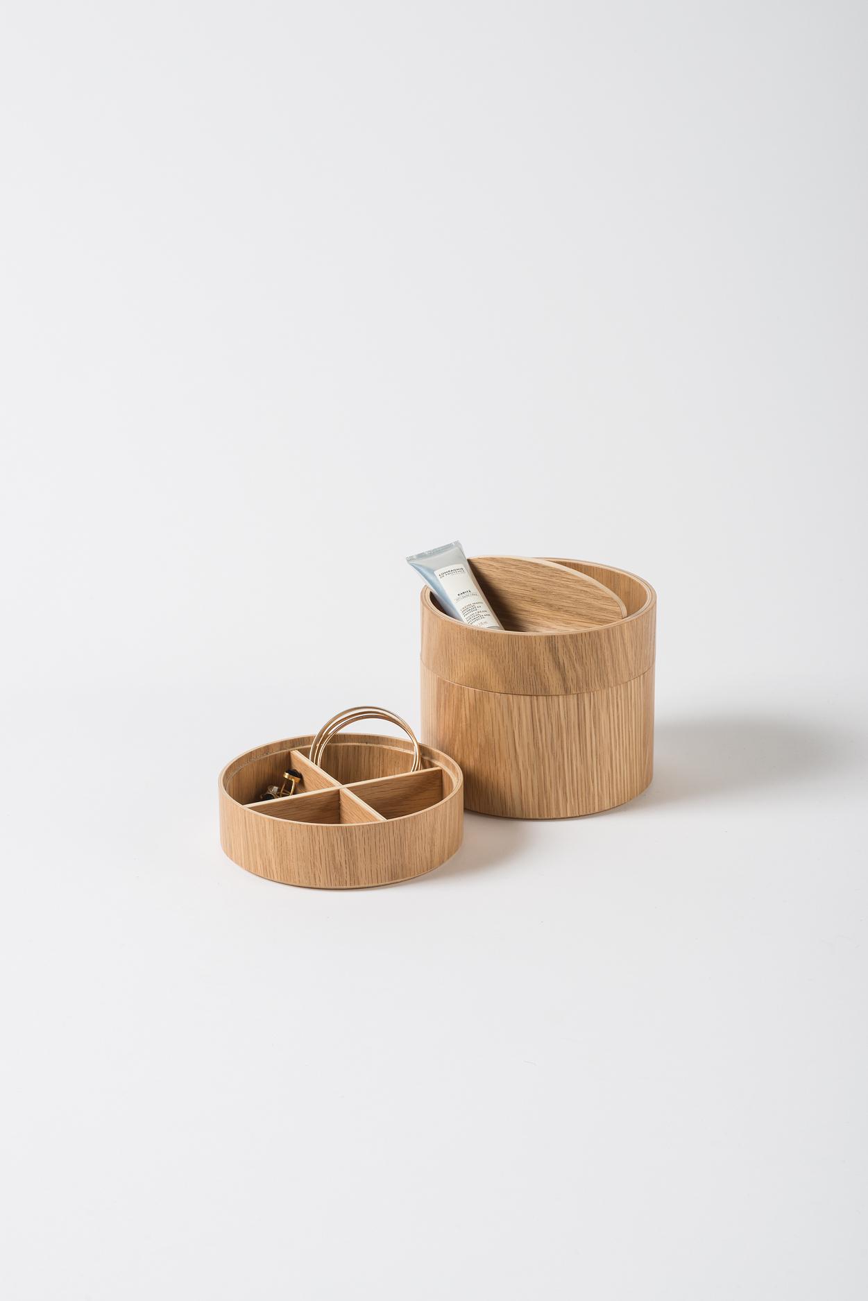 Small Natural Oak 3 Tier Gaussian Vessel $149