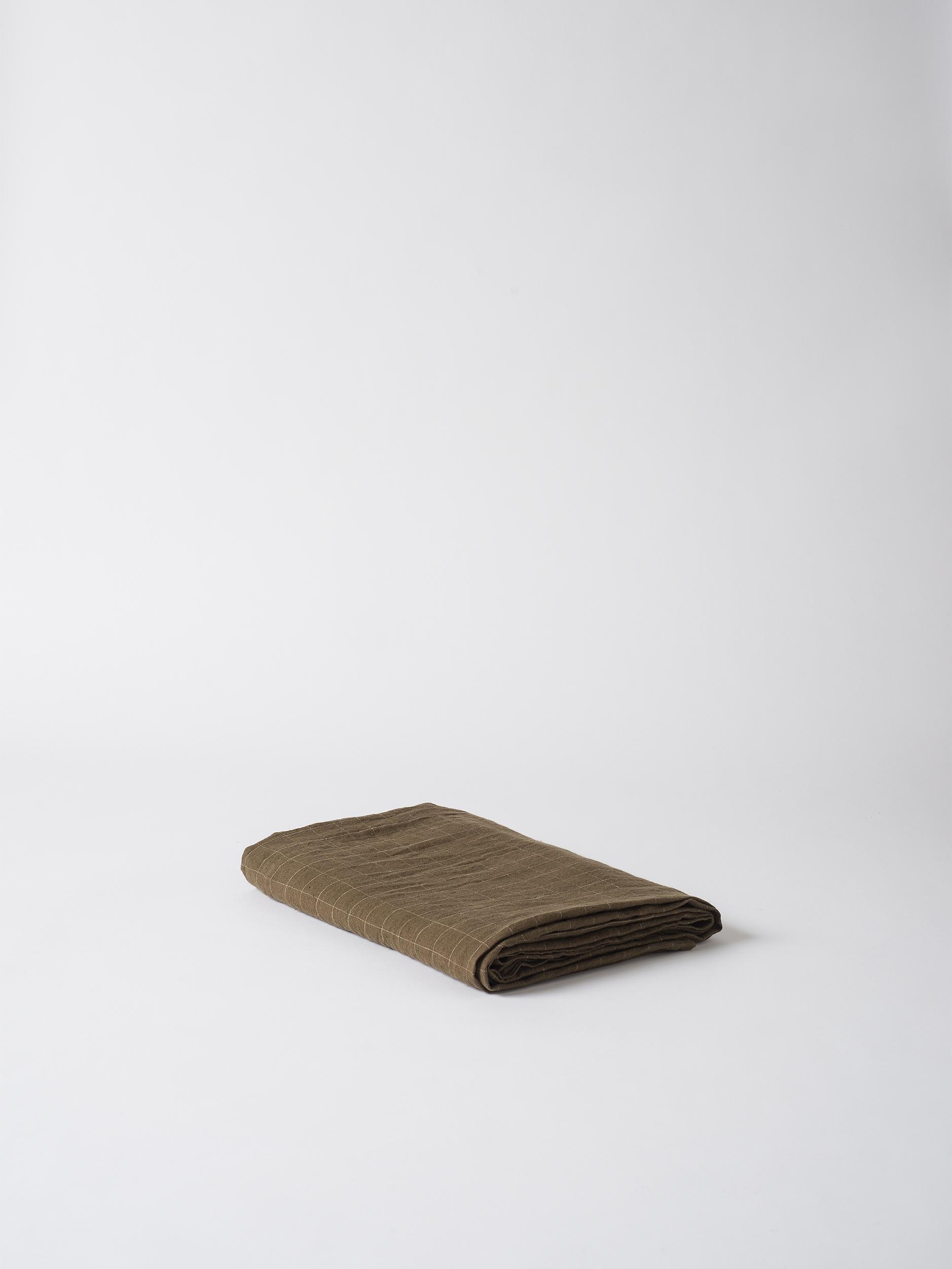 Dine Grid Linen Tablecloth $159.00