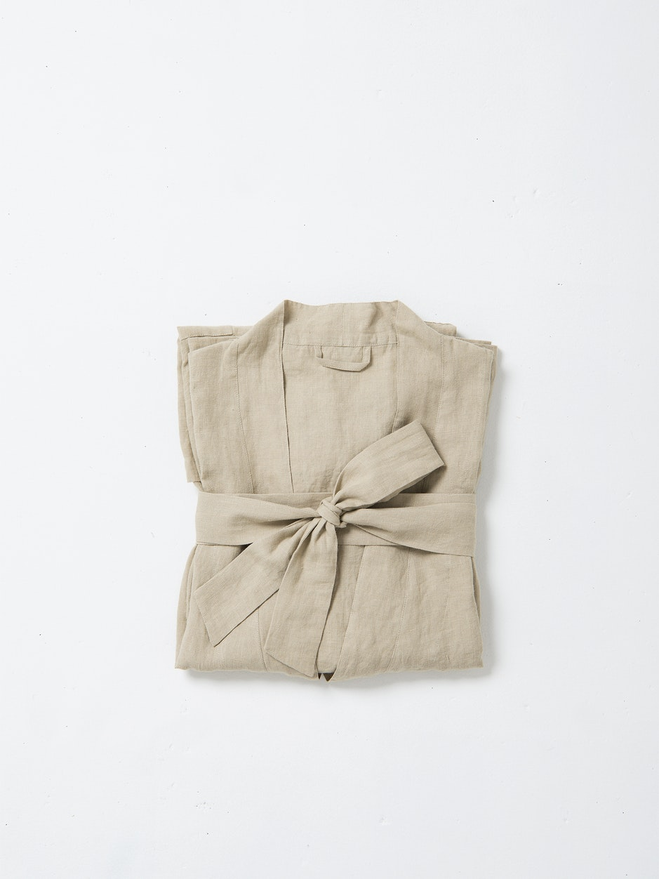 Bella Linen Dressing Gown $159.00