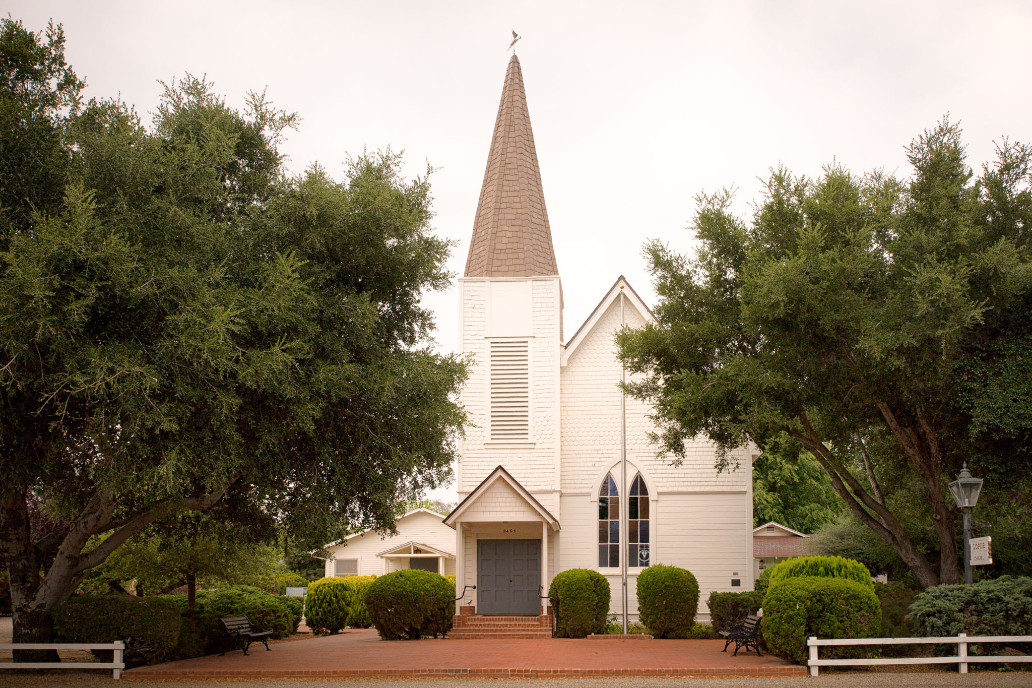 front-elevation-of-the-ballard-california-country-church-located-in-D34YY5.jpg