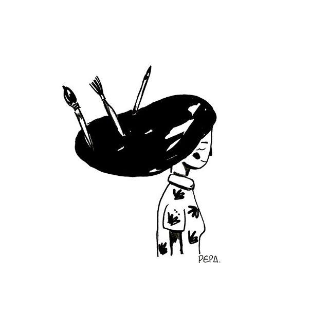 • Autorretrato • Quiero dibujar hasta poder dibujar todos mis sentimientos.