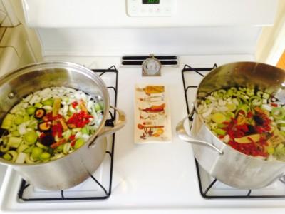 Bone broth cooking start