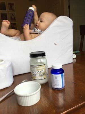TJs organic coconut oil + Klaire Labs Ther-biotic For Infants