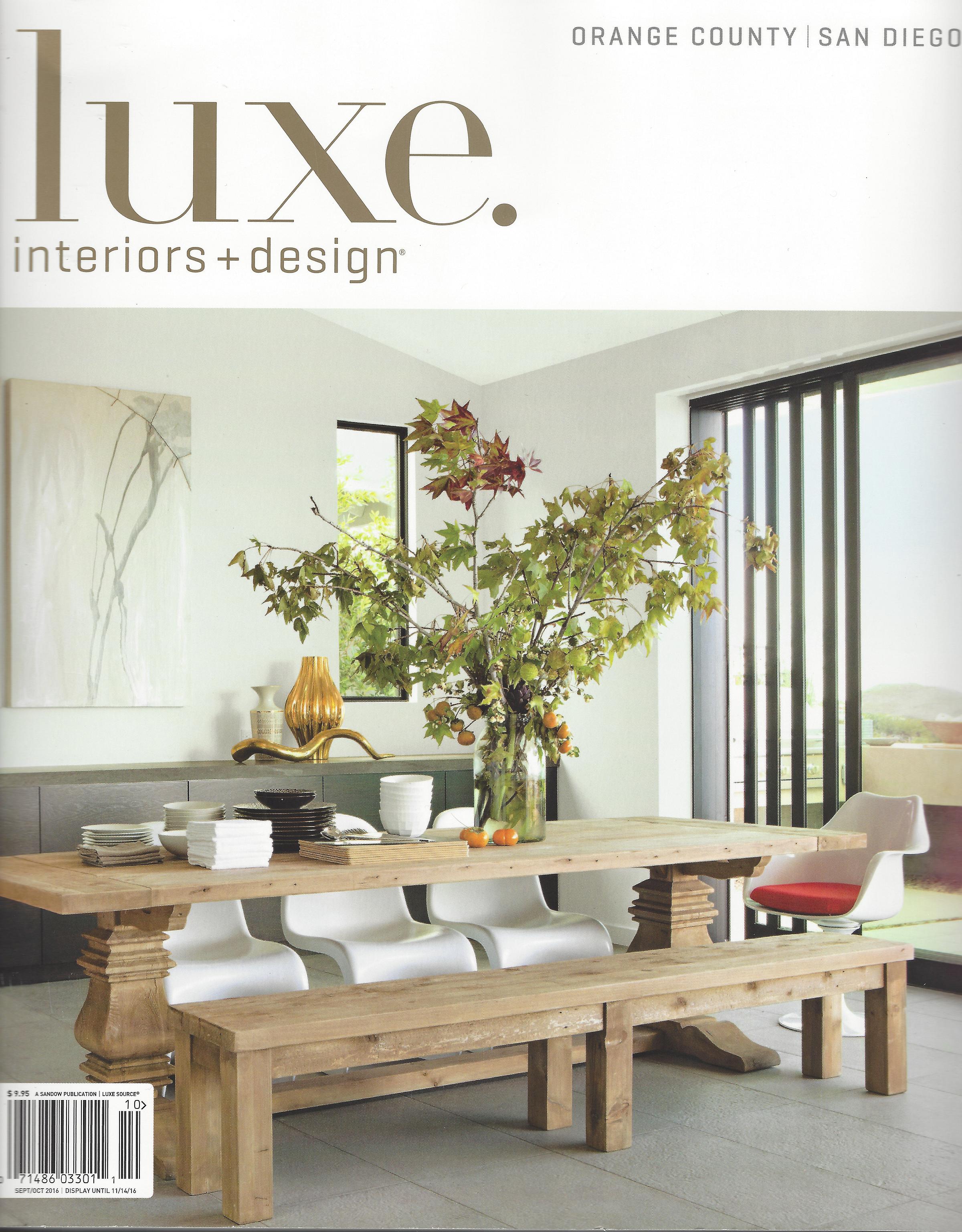 Luxe Interiors + Design Magazine San Diego Orange County