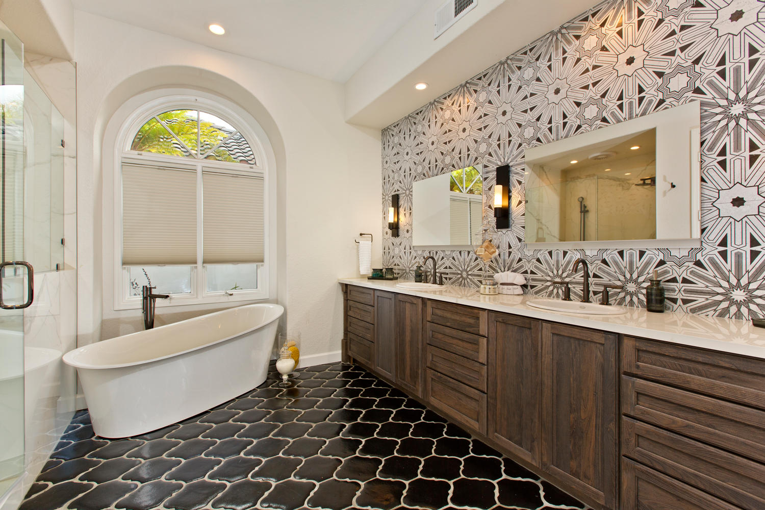 Houzz Room Of The Day Art Deco Tile Dazzles In A Master Bathroom Signature Designs Kitchen Bath