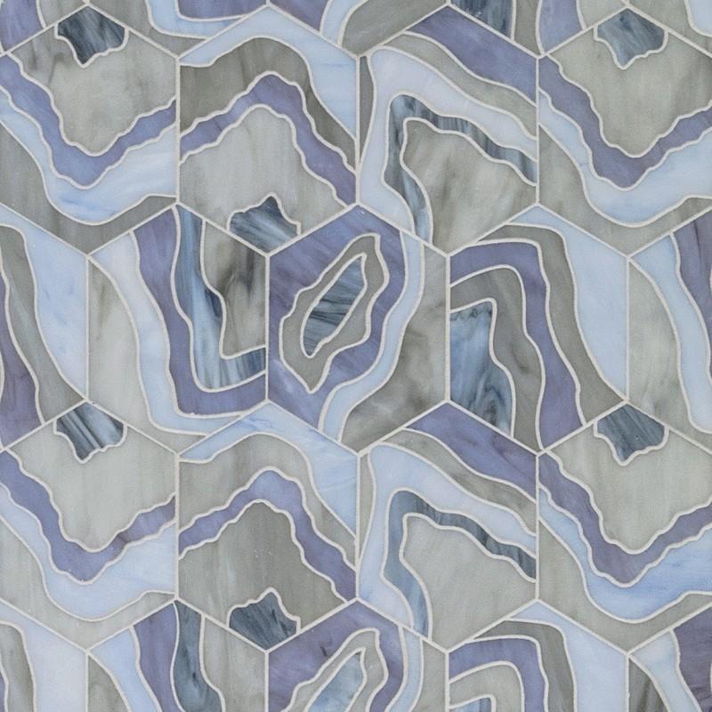 Artistic Tile's Lauren Harper Agate Lilac tile      CITATION Art182 \l 1033    (Artistic Tile)