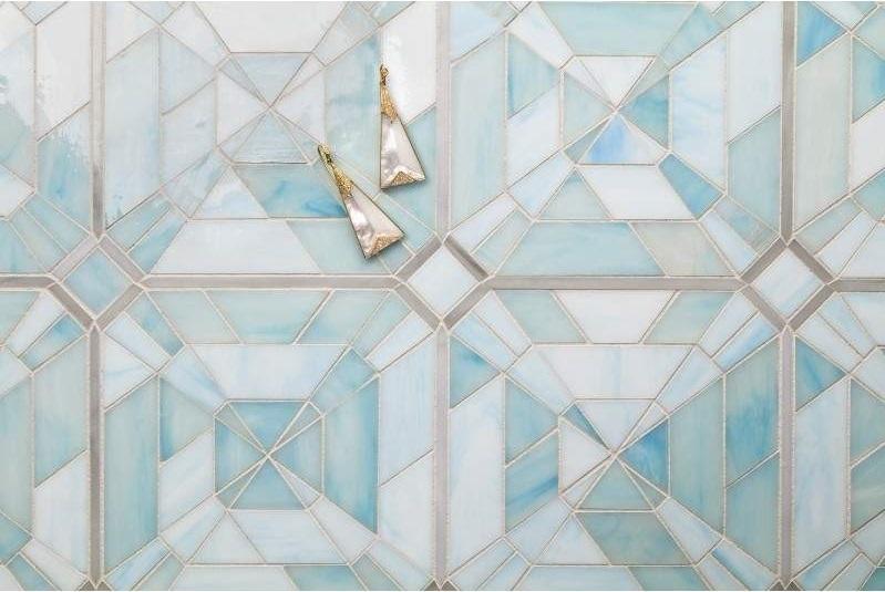 Artistic Tile's Lauren Harper Asscher Watercolor Blue tile      CITATION Art182 \l 1033    (Artistic Tile)